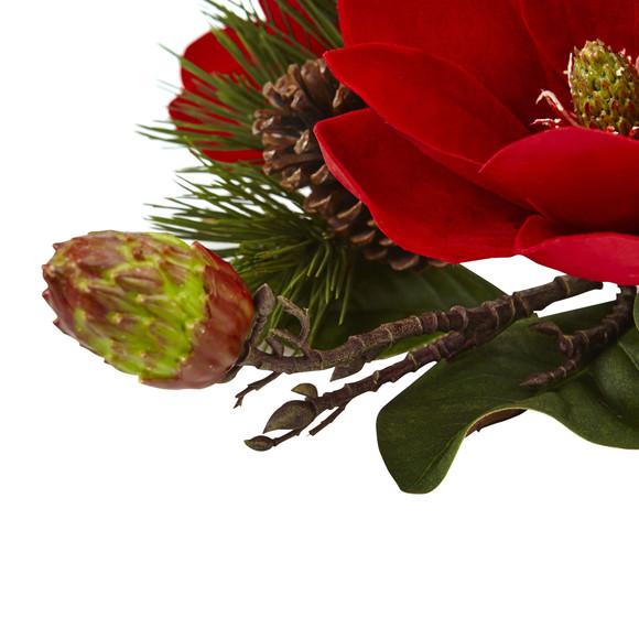 Red Magnolia Pine Candelabrum - SKU #4894 - 3