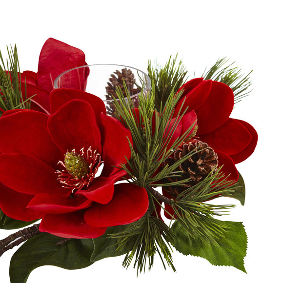 Red Magnolia Pine Candelabrum - SKU #4894 - 4