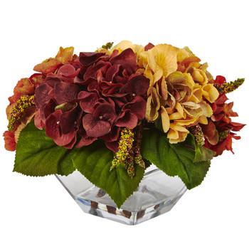 Autumn Hydrangea Berry w/Vase - SKU #4897