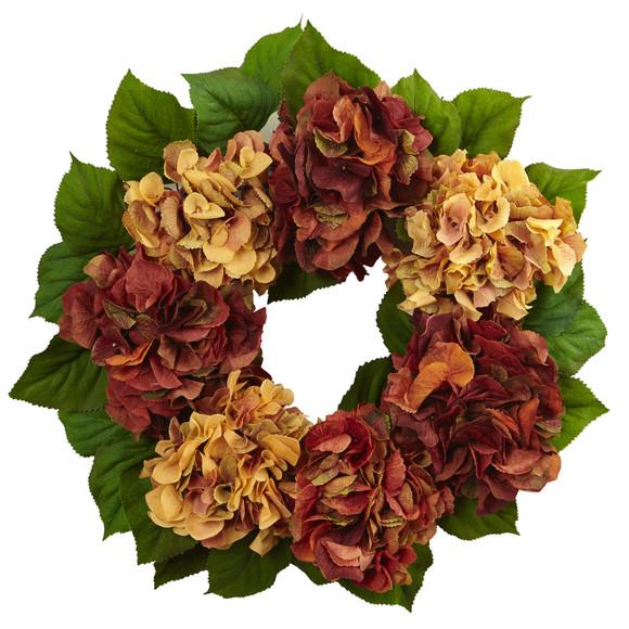 24 Autumn Hydrangea Wreath - SKU #4898