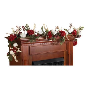 72 Hydrangea w/White Roses Garland - SKU #4900