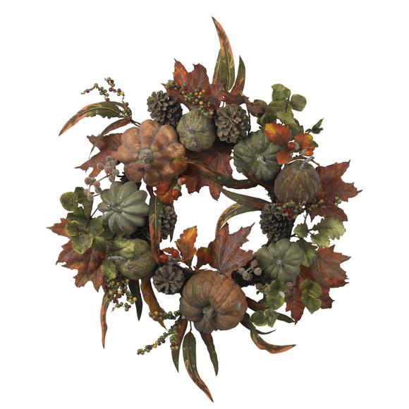 24 Pumpkin Gourd Wreath - SKU #4902