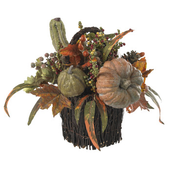 Fall Pumpkin Berry Table Arrangement - SKU #4903