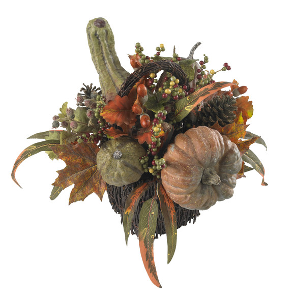 Fall Pumpkin Berry Table Arrangement - SKU #4903 - 1
