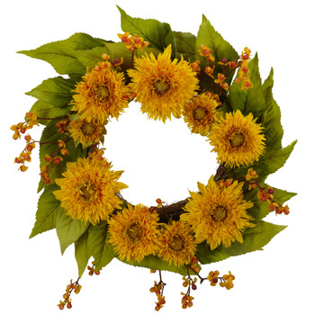 22 Golden Sunflower Wreath - SKU #4904