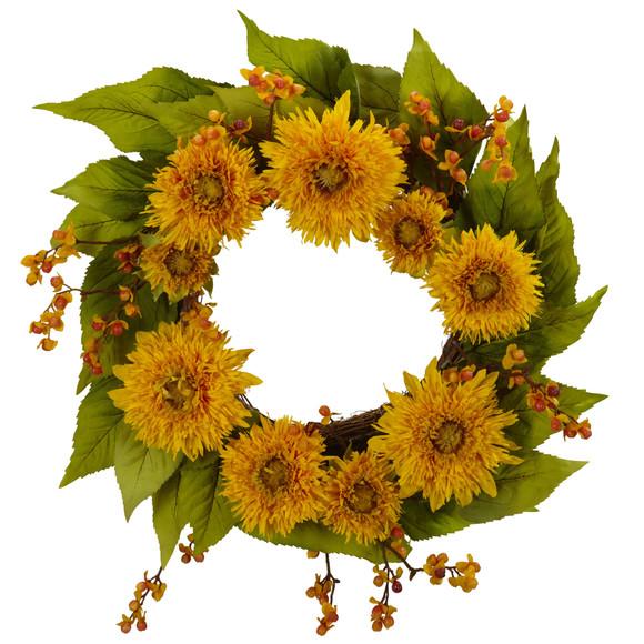 22 Golden Sunflower Wreath - SKU #4904