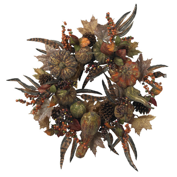 28 Autumn Pumpkin Wreath - SKU #4907