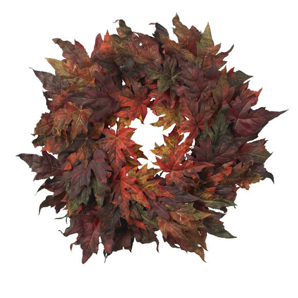 30 Maple Leaf Wreath - SKU #4908
