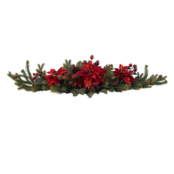 Poinsettia Berry Centerpiece - SKU #4917