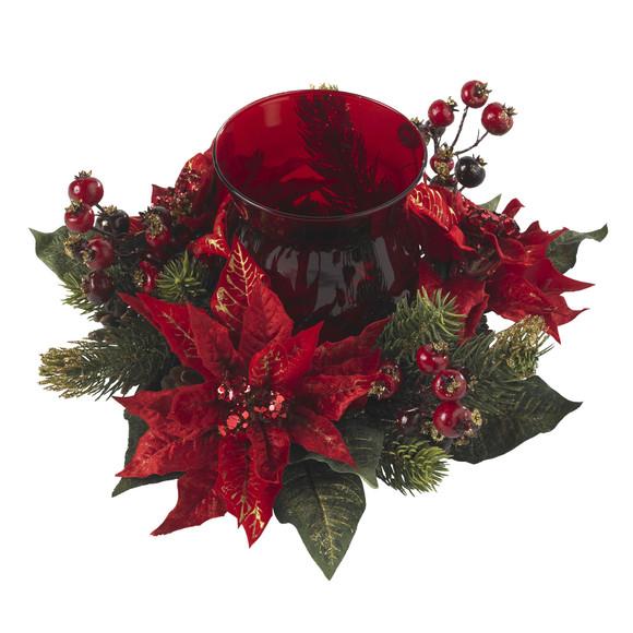 Poinsettia Berry Candelabrum - SKU #4920 - 1