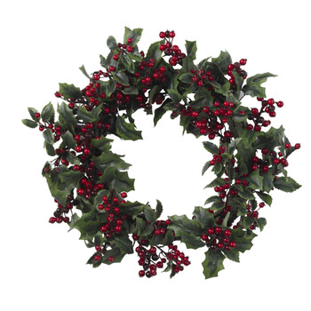 24 Holly Berry Wreath - SKU #4921