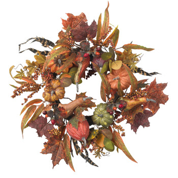 24 Pumpkin Berry Wreath - SKU #4924