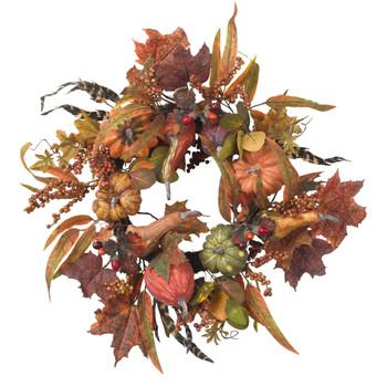 24 Pumpkin Berry Wreath - SKU #4924