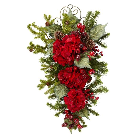 27 Christmas Hydrangea Teardrop - SKU #4926