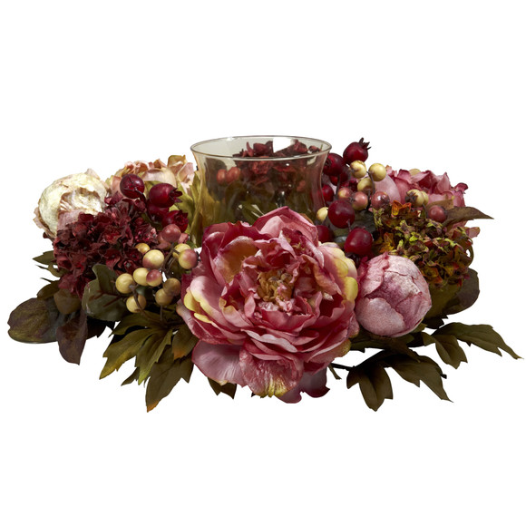 Peony Hydrangea Candelabrum - SKU #4931