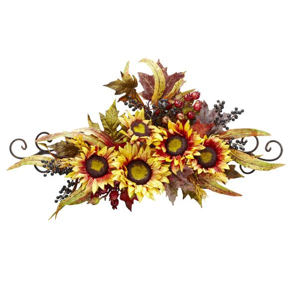 Sunflower Swag w/Metal Frame - SKU #4932