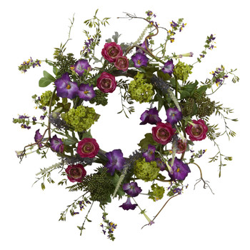 20 Veranda Garden Wreath - SKU #4934