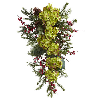 26 Hydrangea Pine Berry Teardrop - SKU #4940