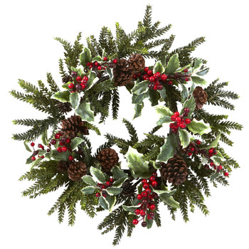 22 Holly Berry Wreath - SKU #4941