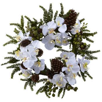 22 Phalaenopsis Pine Wreath - SKU #4945