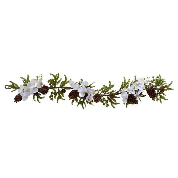 60 Phalaenopsis Orchid Pine Garland - SKU #4947