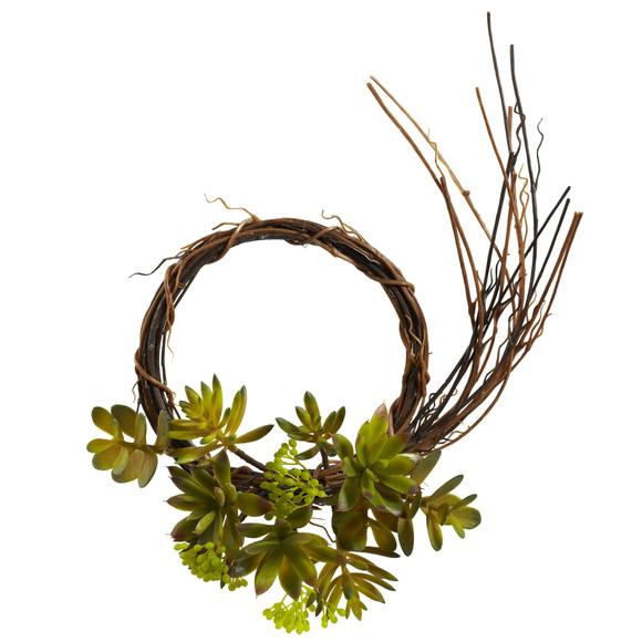 Mixed Succulent Wreath Set of 2 - SKU #4957-S2 - 1