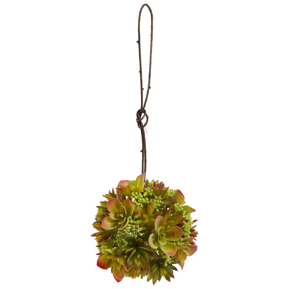7 Mixed Succulent Hanging Spheres Set of 2 - SKU #4959-S2 - 3