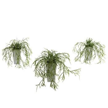 Wild Grass w/White Vase Set of 3 - SKU #4973-S3