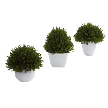 Mixed Cedar Topiary Collection Set of 3 - SKU #4977-S3