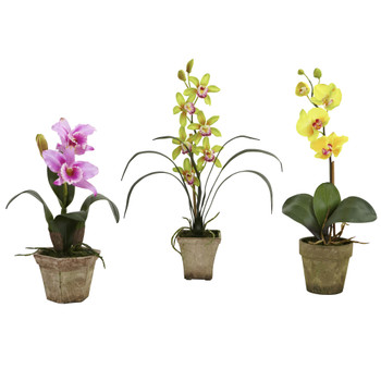 Potted Orchid Mix Set of 3 - SKU #4985-A2-S3