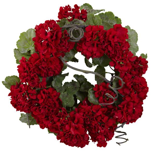 17 Geranium Wreath - SKU #4986
