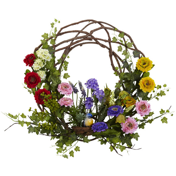 22 Spring Floral Wreath - SKU #4988