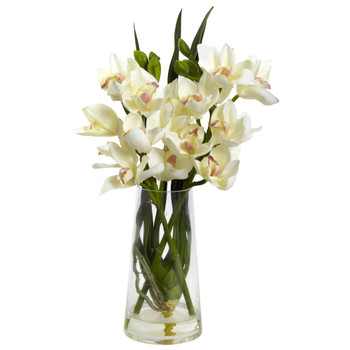 Cymbidium Orchid w/Vase - SKU #4992