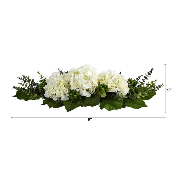 25 Hydrangea and Eucalyptus Artificial Arrangement - SKU #4996 - 1
