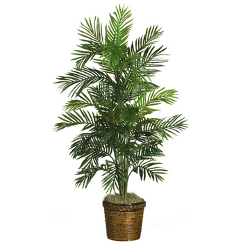 56 Areca Palm Silk Tree w/Basket - SKU #5263-0308