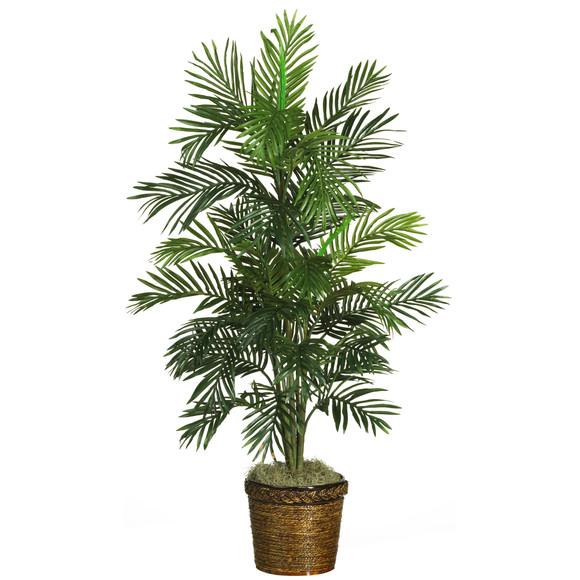 56 Areca Palm Silk Tree w/Basket - SKU #5263-0308