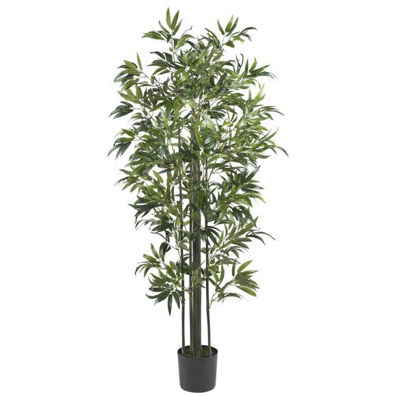 6 Bamboo Silk Tree Green Trunks - SKU #5294