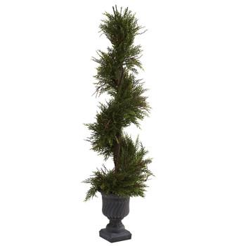 45 Mini Pine Spiral w/Urn Indoor/Outdoor - SKU #5367
