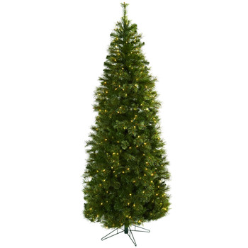 7.5 Cashmere Slim Christmas Tree w/Clear Lights - SKU #5378