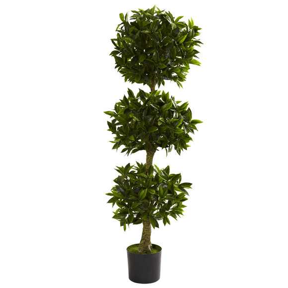 5 Triple Bay Leaf Topiary UV Resistant Indoor/Outdoor - SKU #5381