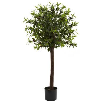 4 Olive Topiary Silk Tree - SKU #5411