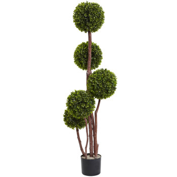 4 Boxwood Five Ball Topiary UV Resistant Indoor/Outdoor - SKU #5428