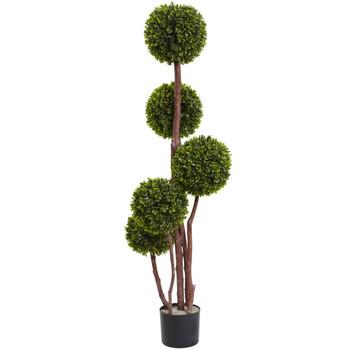 4 Boxwood Five Ball Topiary UV Resistant Indoor/Outdoor - SKU #5428