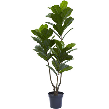 65 Fiddle Leaf Tree UV Resistant Indoor/Outdoor - SKU #5449