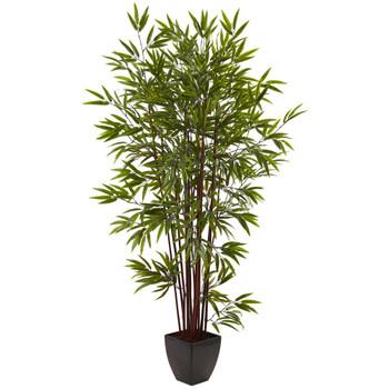 6 Bamboo Silk Tree w/Planter - SKU #5459