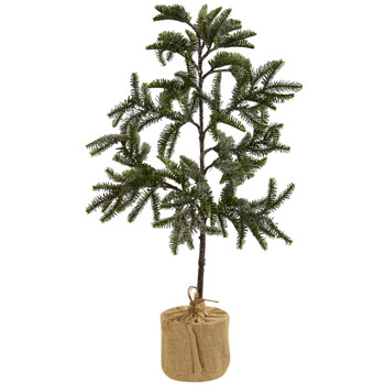 3 Iced Pine Tree w/Burlap Base - SKU #5467