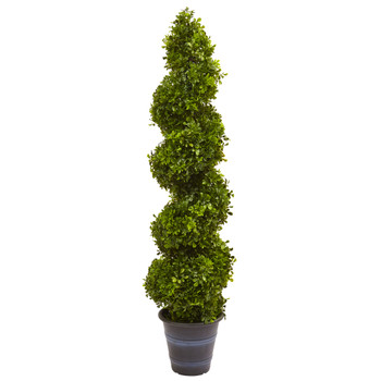 Boxwood Spiral Topiary with Planter Indoor/Outdoor - SKU #5475