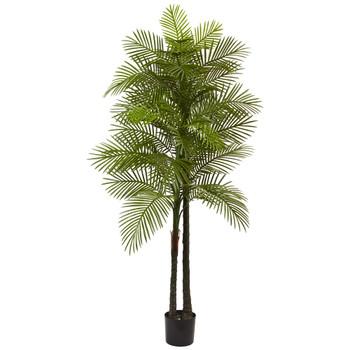 7 Double Robellini Palm Tree UV Resistant Indoor/Outdoor - SKU #5480