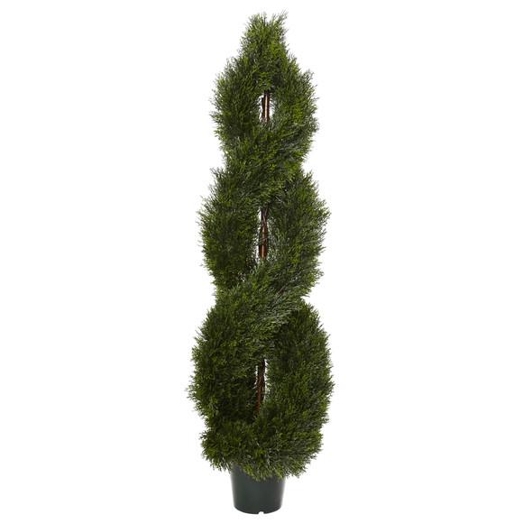 5 Pond Cypress Spiral Topiary UV Resistant Indoor/Outdoor - SKU #5483