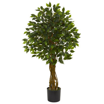 4 Ficus Artificial Tree UV Resistant Indoor/Outdoor - SKU #5491